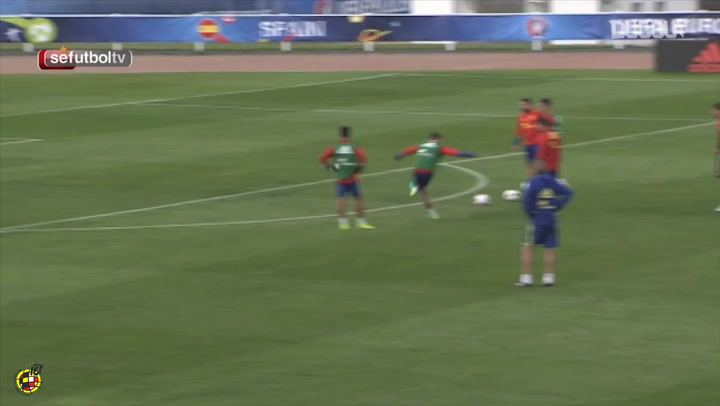David De Gea's impressive saves in training with Spain