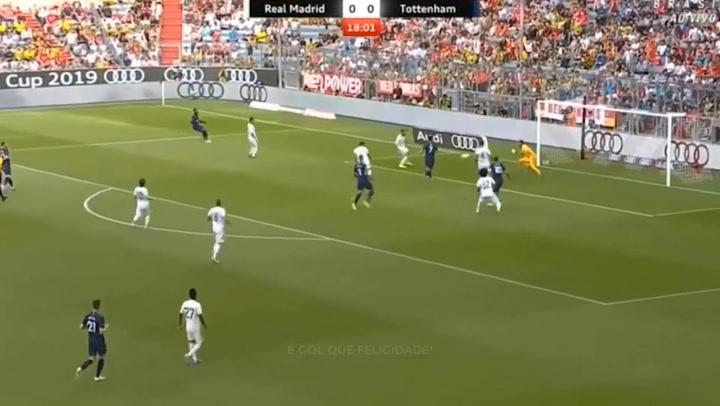 Keylor Navas salvó al Madrid de más goles ante el Tottenham