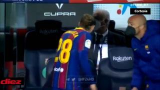 El enfado de Koeman con Mingueza: el defensor lo saluda y el técnico ni siquiera lo mira