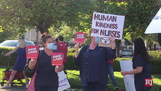 National Nurses United organized the picket at St. Rose Dominican, Siena campus – Video