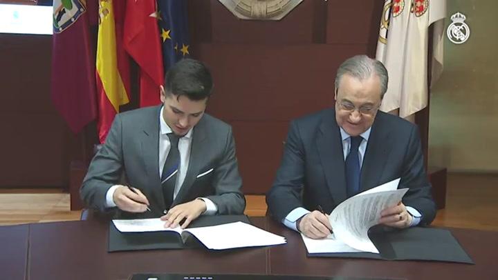 Brahim Díaz es presentado como nuevo jugador del Madrid