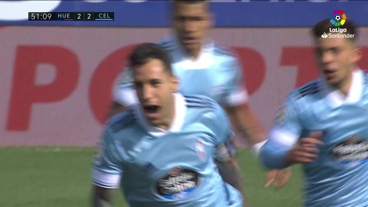 Gol de Hugo Mallo (2-3) en el Huesca 3-4 Celta