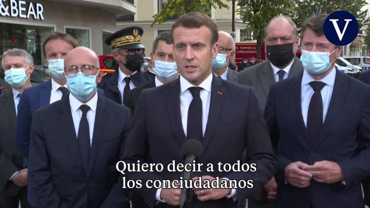 Declaraciones de Macron tras el atentado de Niza