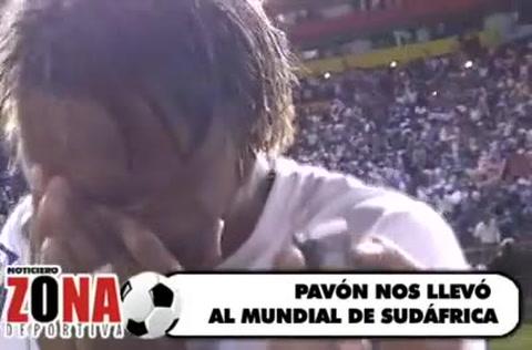 Las lágrimas de Carlos Pavón cuando clasificamos a Sudáfrica 2010