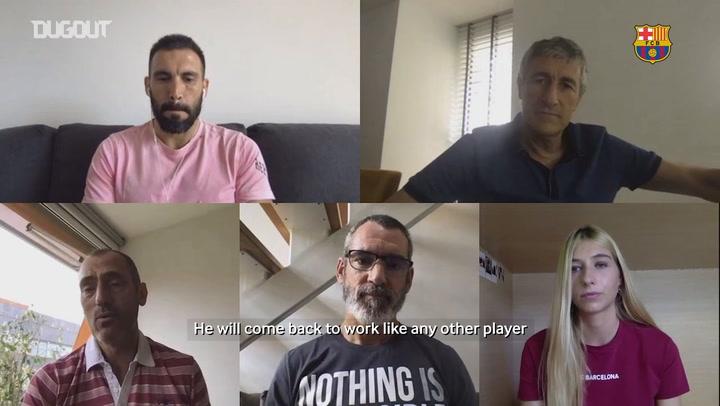 Eder Sarabia: 'Luis Suárez has been working really hard'