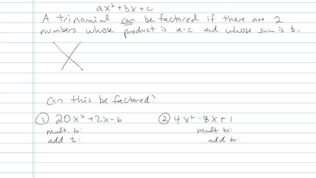 Factoring: Special Cases Part I - Problem 6