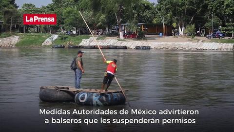 Guardia Nacional y Migración, un muro que detiene a los migrantes en el río Suchiate