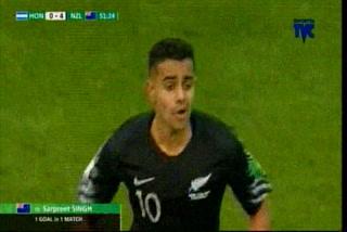¡Gol de Nueva Zelanda! Singh pone el 4-0 ante Honduras en el Mundial Sub20