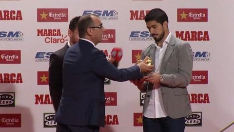 Messi recibió hoy su cuarta Bota de Oro como el mejor goleador de Europa