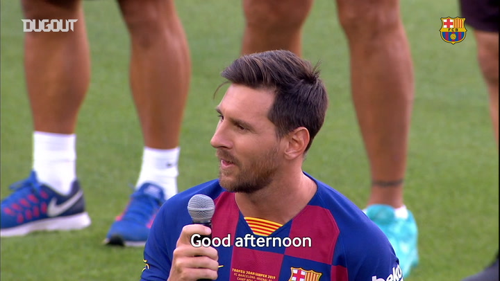 Leo Messi: 'We are going to battle for everything once again'