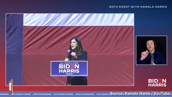 Biden Texas State Director Introduces Kamala Harris as