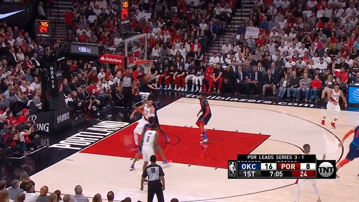 Damian Lillard, mejor jugador de la jornada de playoffs de la NBA el 24 de abril de 2019