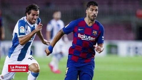Deportes: Luis Suárez le da vida al Barça y envía al Espanyol a Segunda División