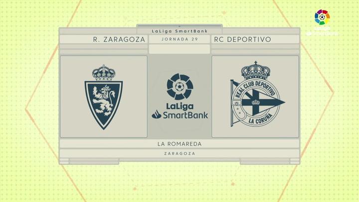LaLiga SmartBank (J29): Resumen y goles Zaragoza 3-1 Deportivo