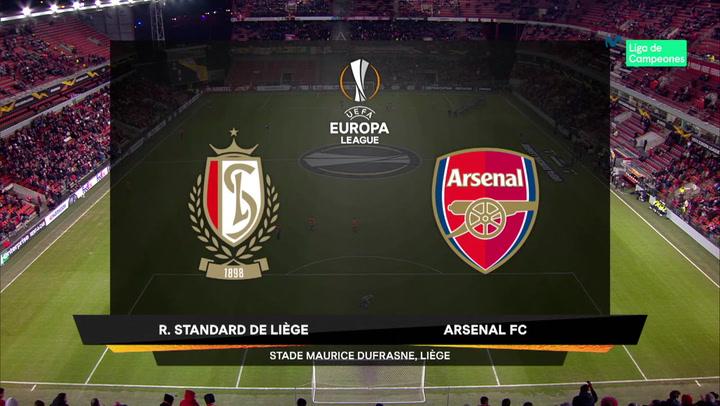 Europa League Resumen y Goles del Standard Lieja-Arsenal