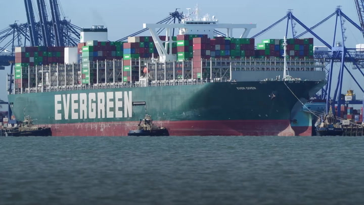 Ship that got stuck in Suez Canal finally arrives in UK four months later than planned