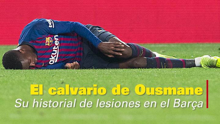 El calvario de Ousmane Dembelé: su historial de lesiones