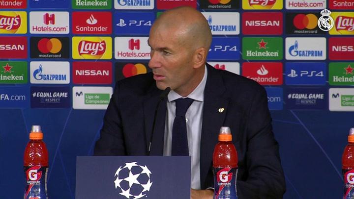 Zidane habló tras el partido ante el Brujas
