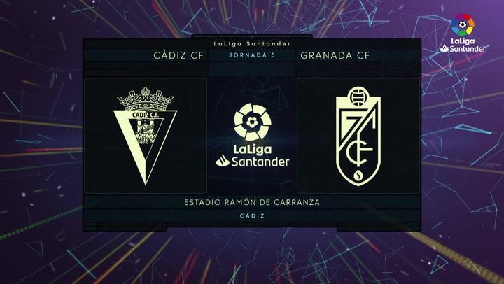 LaLiga (J5): Resumen y goles del Cádiz 1-1 Granada