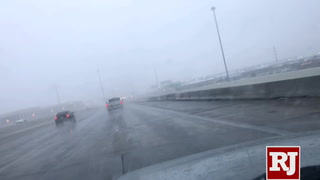 NHP advises motorists to take caution during Las Vegas snowstorm