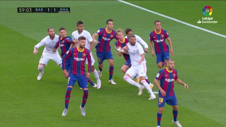 Gol de Sergio Ramos (p.) (1-2) en el Barcelona 1-3 Real Madrid