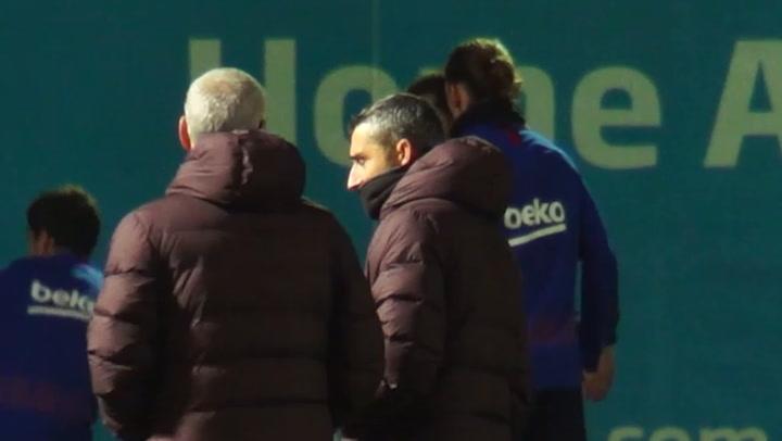 El Barça prepara el partido ante el Mallorca