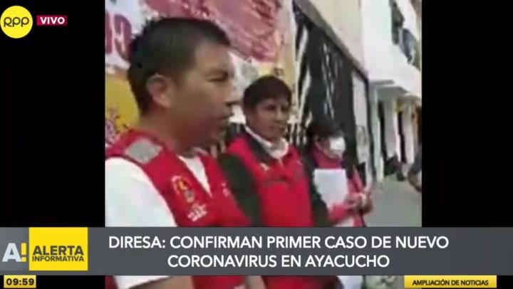 Diresa de Ayacucho reporta primer caso de coronavirus en la región