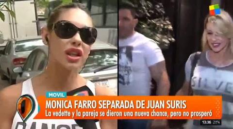 Mónica Farro expresó su furia porque Juan Suris volvió con su exmujer y no le avisó