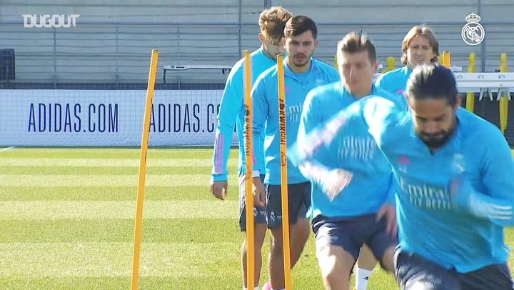 The team continue preparations for Real Sociedad clash