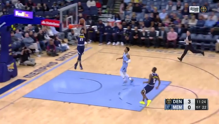 Jamal Murray (Nuggets), el jugador más destacado de la jornada de la NBA