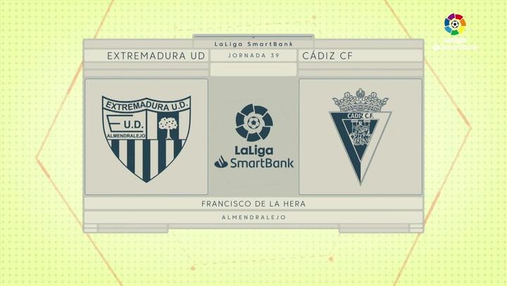 LaLiga SmartBank (J39): Resumen y gol del Extremadura 0-1 Cádiz