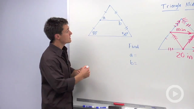 Triangle Midsegment Properties - Problem 2