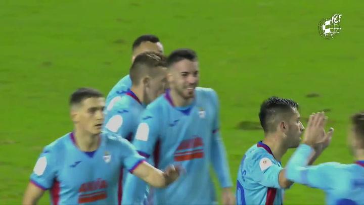 El Eibar supera la primera eliminatoria tras vencer al Logronés (0-5)