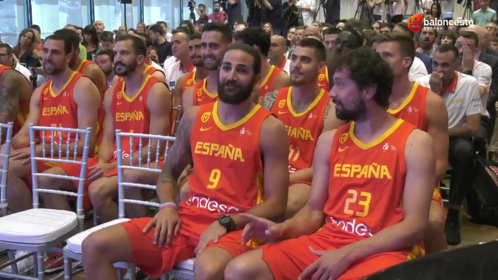 La selección española de baloncesto realizó su puesta de largo para el Mundial de China