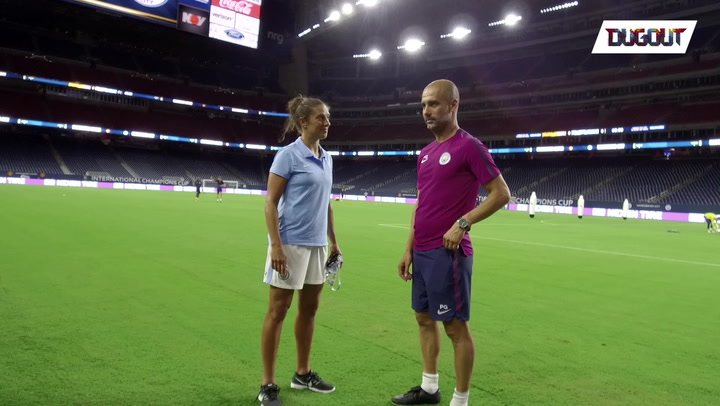 Carli Lloyd Catches Up With Pep & Kdb
