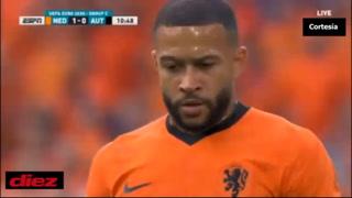 Países Bajos derrota en Ámsterdam a Austria y se mete a los octavos de final de la Eurocopa