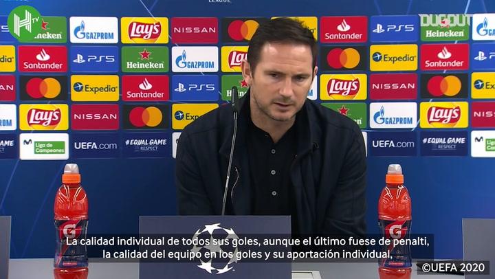 Lampard elogia a Giroud tras sus cuatro goles ante el Sevilla