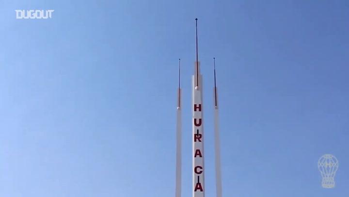 Huracán train at El Palacio
