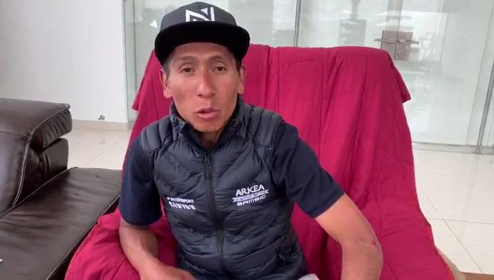 El mensaje de Nairo Quintana tras ser atropellado mientras entrenaba