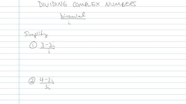 Dividing Complex Numbers - Problem 3