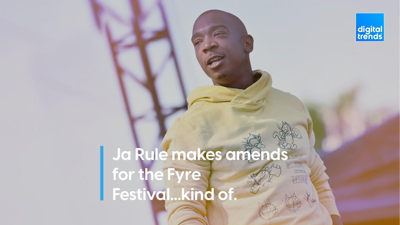 Ja Rule makes amends for the Fyre Festival...kind of.