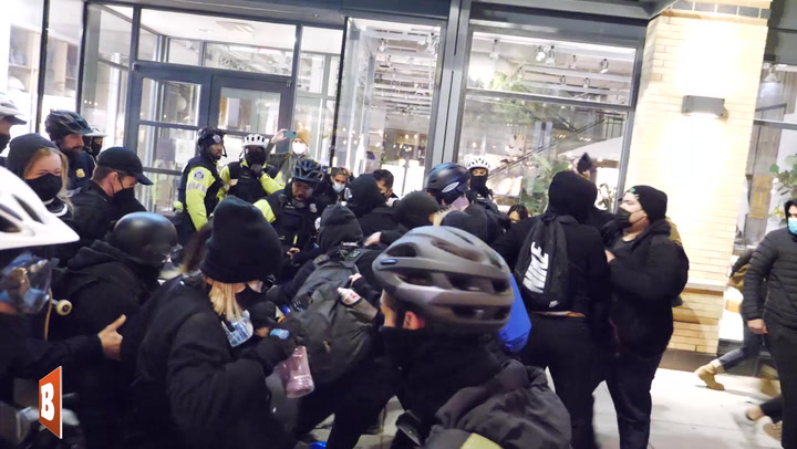 Weakest Police Blockade Ever? D.C. Cops Bust Through BLM Human Chain
