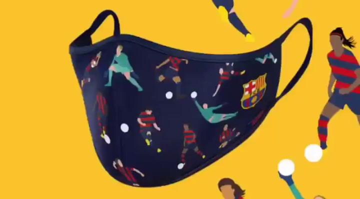 Desvelan los primeros diseños de mascarillas del Barça