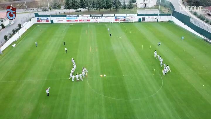 Trabzonspor Antremanında Eğlenceli Anlar