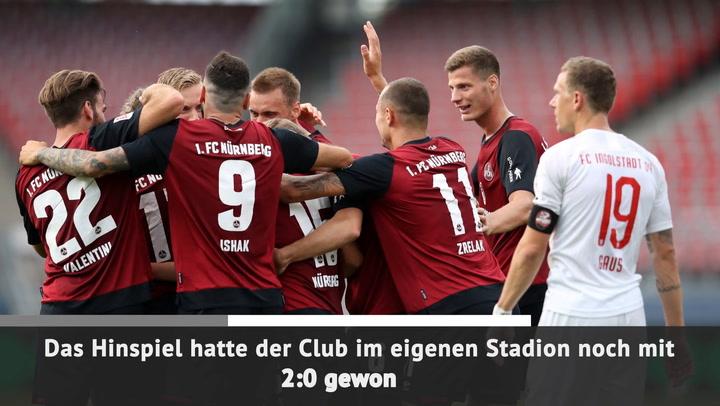 Kurz vor Schluss! Nürnberg rettet sich gegen FCI
