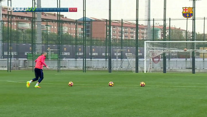 Throwback: When Andrés Iniesta Took The Barça Crossbar Challenge!