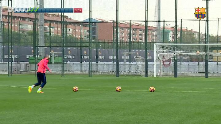 Throwback: When Andrés Iniesta Took The Barça Crossbar Challenge!