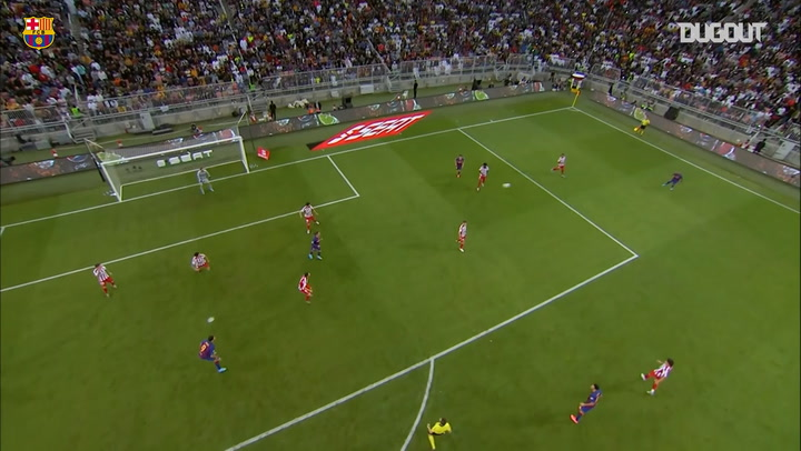 Leo Messi's Supercopa goal vs Atletico Madrid