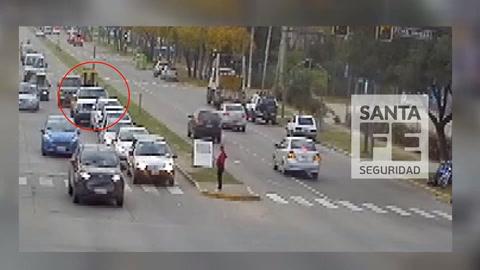 Difundieron el video de una camioneta atropellando a un cortejo fúnebre