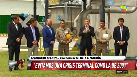 Macri dijo que se evitó una crisis terminal similar a la de 2001